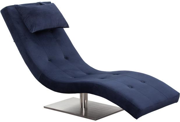 SalesFever Relaxliege Samt blau