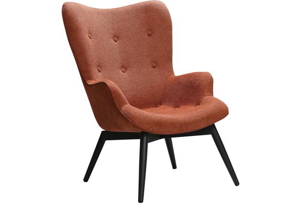 SalesFever Sessel Kupfer Strukturstoff Metall, Stoff Kupfer, Schwarz 394090