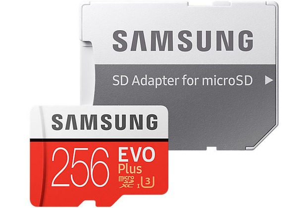 Samsung EVO Plus microSD Karte 256 GB, Class10 (2017) + SD Adapter