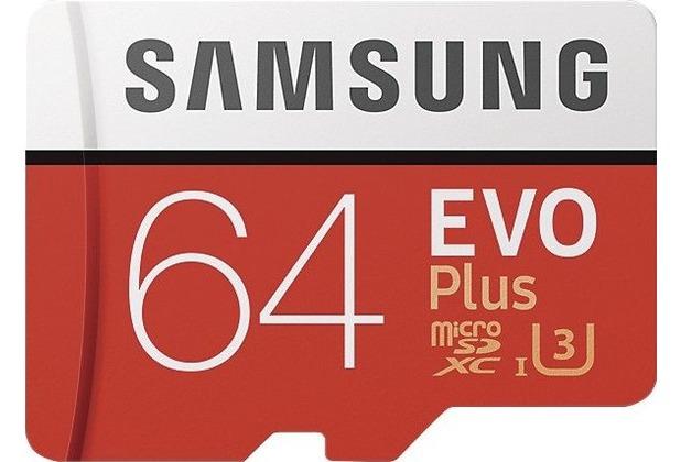 Samsung EVO Plus microSD Karte 64 GB, Class10 (2017) (SD Adapter)