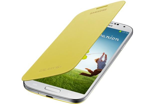 Samsung Flip Cover EF-FI950B für Galaxy S4, Yellow