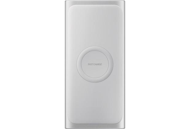 Samsung induktive Powerbank, 10.000 mAh, USB Typ C/USB, silver