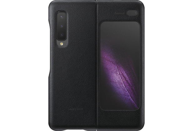 Samsung Leather Cover Galaxy Fold 5G, black