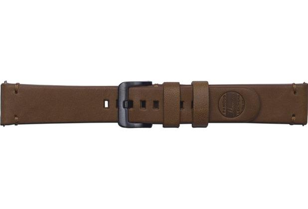 Samsung Leder Armband Essex von Strap Studio (20 mm), Galaxy Watch, brown