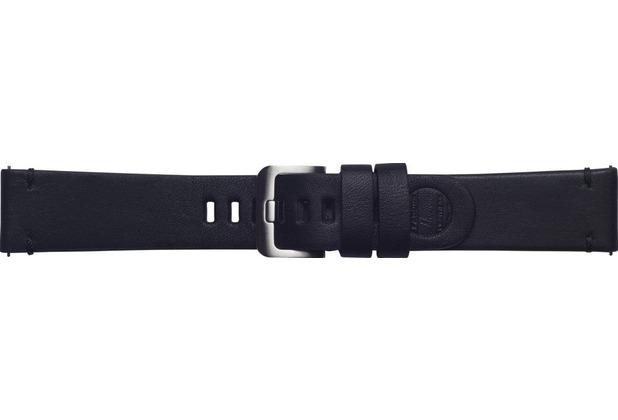 Samsung Leder Armband Essex von Strap Studio (22 mm), Galaxy Watch, black