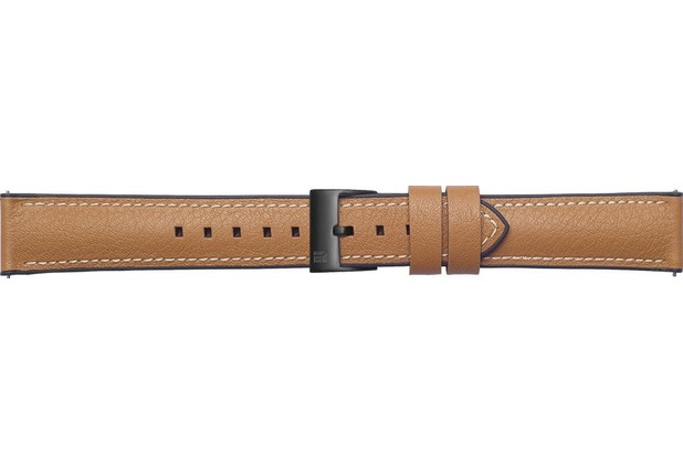 Samsung Leder Armband Urban Traveller von Strap Studio (20 mm), Galaxy Watch, tan