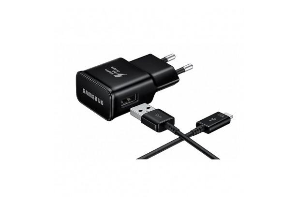 Samsung Schnellladegerät EP-TA200 +Typ C Kabel EP-DG970 -USB Ladegerät - 2mA - Schwarz