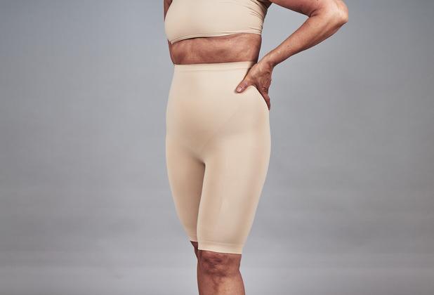 """samt Damen Shapewear Hose mit Bein \""""Pansy\"""" Beige XXL"""