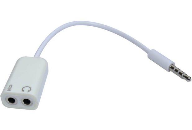 Sandberg A/S Headset Konverter 2x 3,5 mm Klinkenbuche zu 1x 3,5 mm Klinkenstecker (Apple-Belegung)