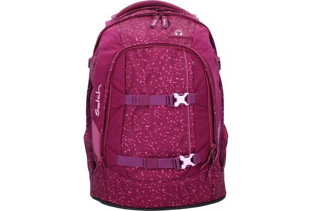 satch Pack Schulrucksack 45 cm Laptopfach beere rosa gesprenkelt