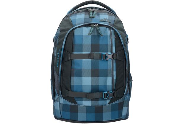 satch pack Schulrucksack 48 cm blue bytes karo blau grau