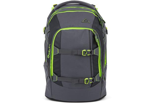 satch pack Schulrucksack 48 cm phantom grau grün
