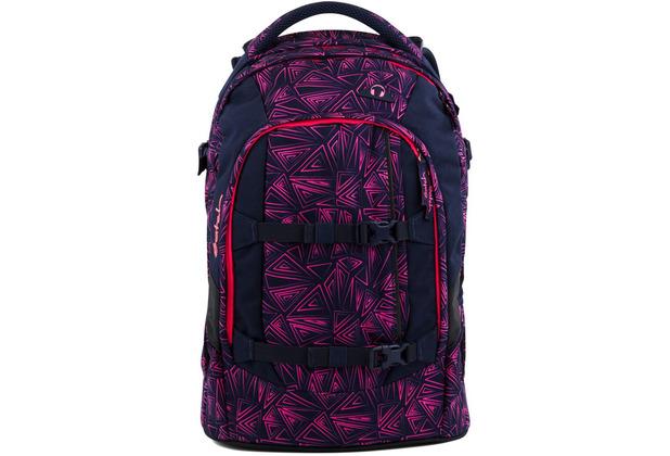 satch pack Schulrucksack 48 cm pink bermuda pinke dreiecklinien