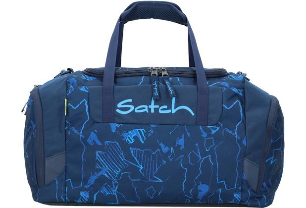 satch Sporttasche 50 cm blau gemustert