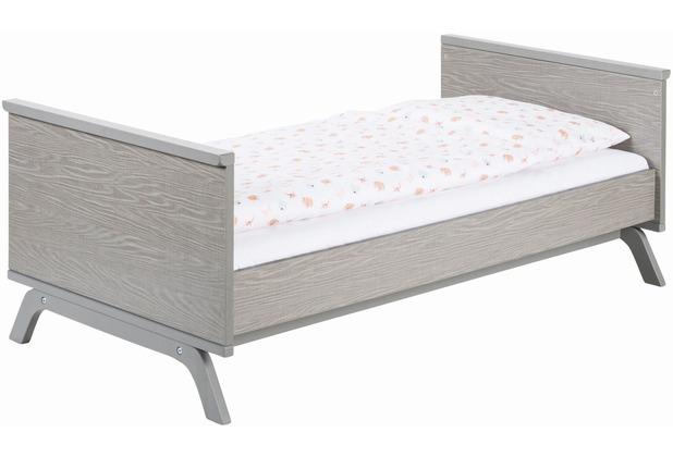 Schardt 2 Umbauseiten, 140 cm Dekor Texwood grau, passend zu Kombi-Kinderbett Vicky
