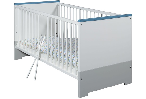 Schardt Candy Blue Kombi-Kinderbett 70x140cm, weiß / blau, grau