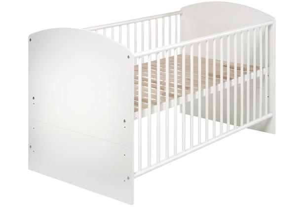 Schardt Classic White Kombi-Kinderbett 70x140 cm, Dekor weiß