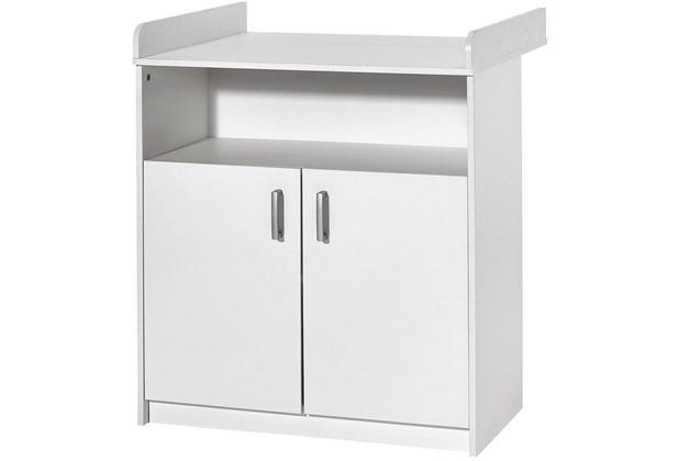 Schardt Classic White Wickelkommode 2 Türen, 1 offenes Fach, weiß