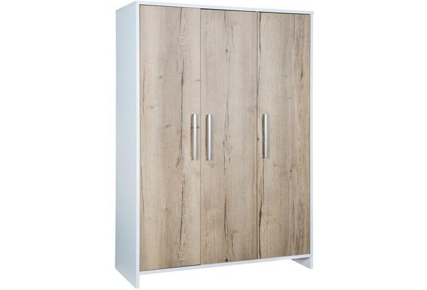 Schardt Eco Plus Schrank 3 Türen, Halifax Eiche / weiß