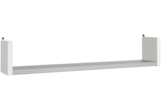 Schardt Eco Silber Wandbord 1 Ablage, weiß / Pinie silber