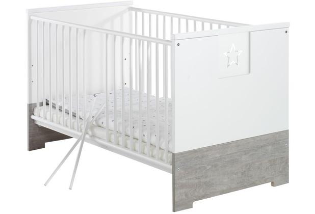 Schardt Eco Star Kombi- Kinderbett 70x140 cm Driftwood/weiß