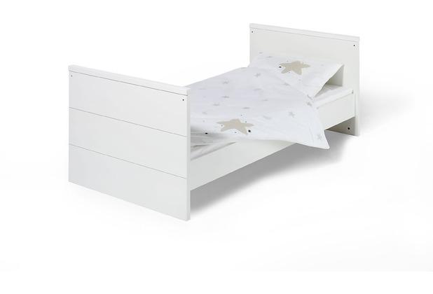 Schardt Eco Stripe Kombi-Kinderbett 70x140 cm, weiß