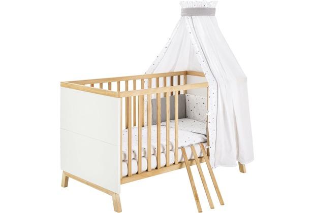 Schardt Miami White Kombi-Kinderbett 70x140 cm, weiß / geölt