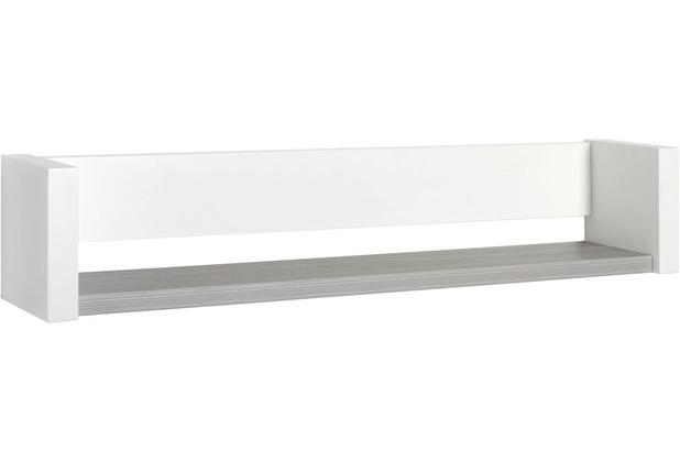 Schardt Milano Pinie Wandbord 1 Ablage, Weiß / Pinie silber