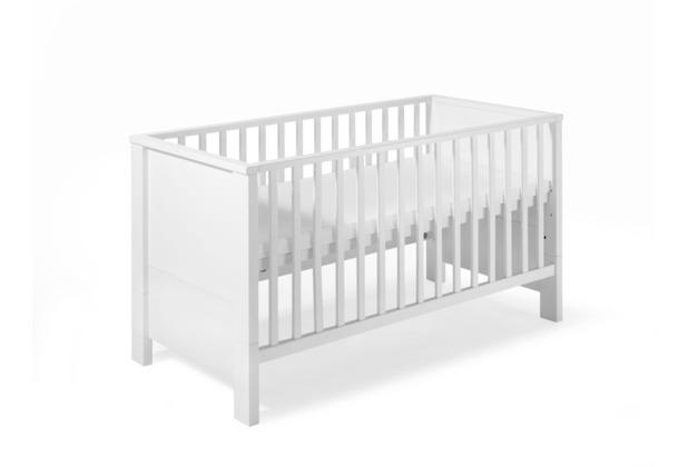 Schardt Milano Weiß Kombi-Kinderbett 70x140 cm, weiß