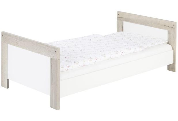 Schardt Nordic Halifax Kombi-Kinderbett 70x140 cm, Halifax Eiche / weiß