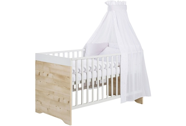 Schardt Timber Pinie Kombi-Kinderbett 70x140 cm, weißgrau / Henson Pine