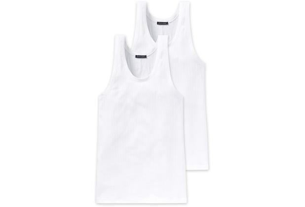 Schiesser 2er Pack Jacke 0/0 weiß 103401-100 4