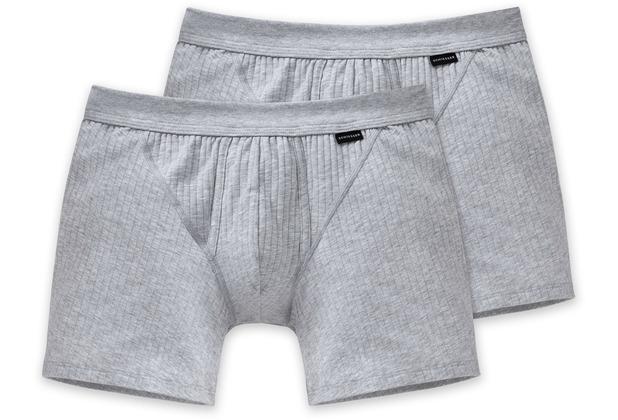 Schiesser 2er Pack Shorts grau-mel. 103399-202 4