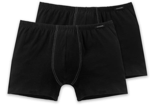 Schiesser 2er Pack Shorts schwarz 205222-000 Grösse 4