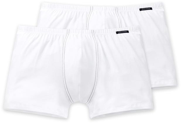 Schiesser 2er Pack Shorts weiß 205222-100 Grösse 4