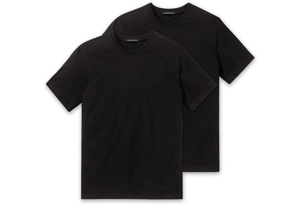 Schiesser 2er Pack T-shirt schwarz 008150-000 3XL