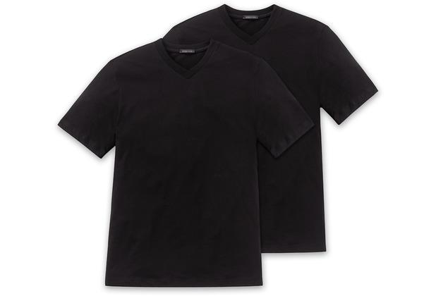 Schiesser 2er Pack T-shirt schwarz 008151-000 3XL