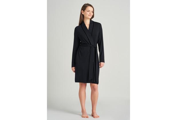 Schiesser Damen Mantel schwarz 175509-000 36