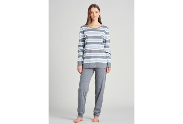 Schiesser Damen Schlafanzug lang hellblau 175492-805 36