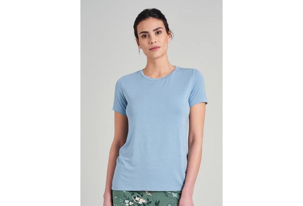 Schiesser Damen T-Shirt hellblau 175475-805 34