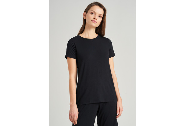Schiesser Damen T-Shirt schwarz 175475-000 34
