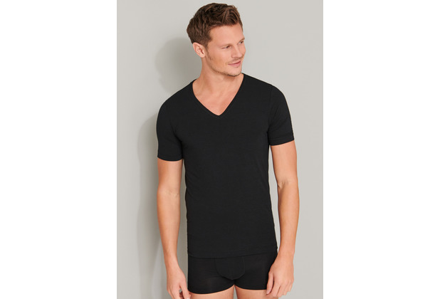 Schiesser Herren Shirt 1/2 schwarz 165322-000 4