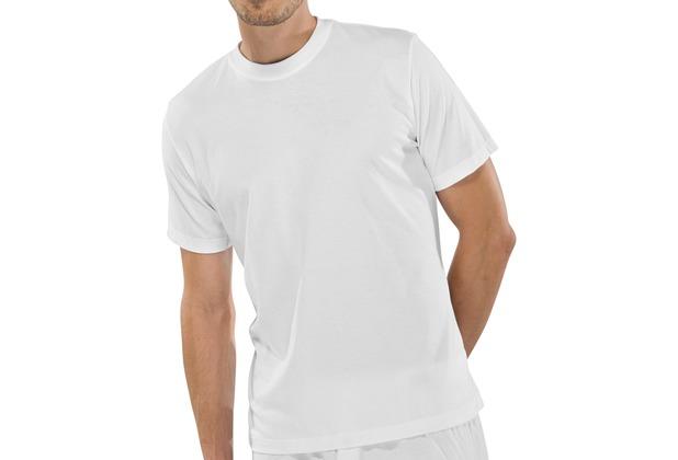 Schiesser Shirt kurzarm American T-Shirt Rundhals Doppelpack weiß 3XL