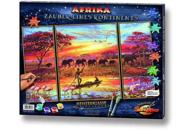 Schipper Malen nach Zahlen - Afri-Zauber eines Konti (Triptych)