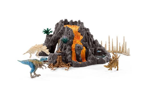 Schleich Riesenvulkan mit T-Rex