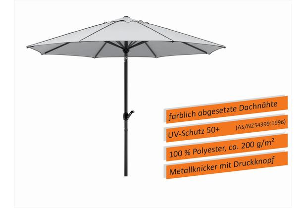 Schneider Schirme Sonnenschirm Adria silbergrau 300/8