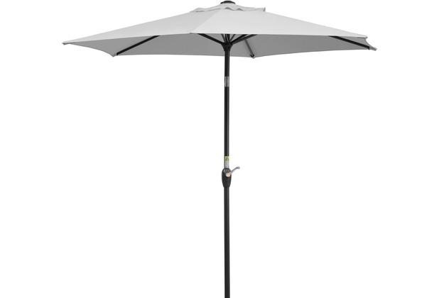 Schneider Schirme Sonnenschirm Bilbao 220/6 silbergrau
