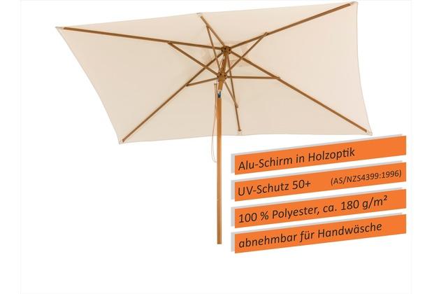 Schneider Schirme Sonnenschirm Malaga 300x200 natur