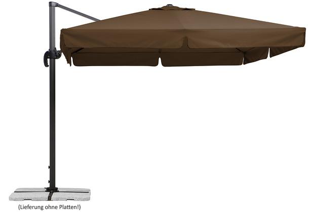 Schneider Schirme Sonnenschirm Rhodos 300x300 mocca