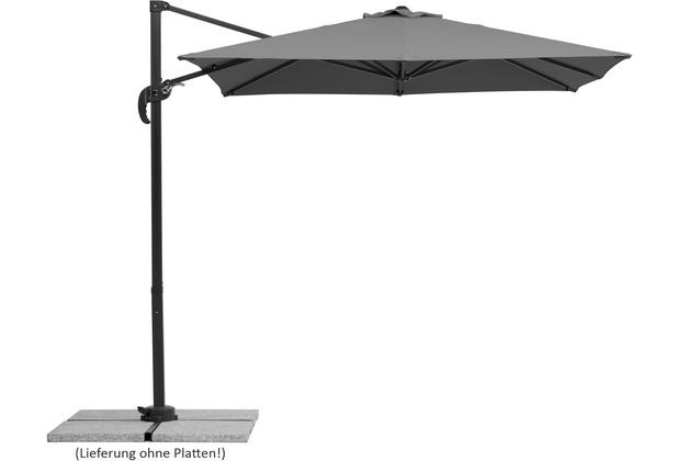 Schneider Schirme Sonnenschirm Rhodos Junior 230x230/8 anthrazit